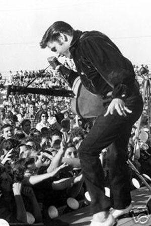 Elvis Presley Live Music Poster