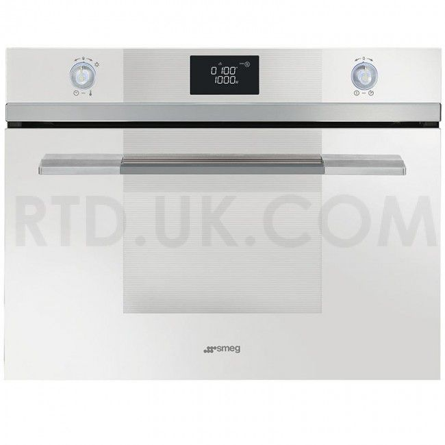 Smeg SF4120MB Compact Microwave Oven with Grill, White