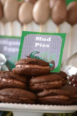 Birthday party ideas -Swamp Party by Candy Chic - Mud Pies