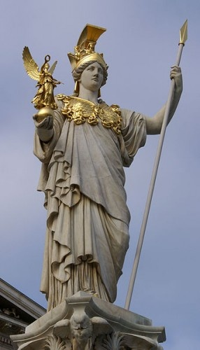 Neoclassical depiction of Athens in front of the parliament in Vienna