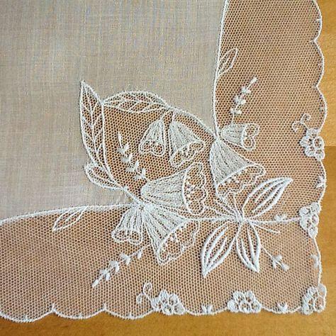 Lace Handkerchief Wedding Handkerchief Tambour by MadAboutHankies