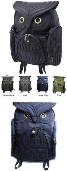 Which color do you like? Unique Cool Owl Shape Solid Computer Backpack School Bag Travel Bag #owl #backpack #bag #travel #school