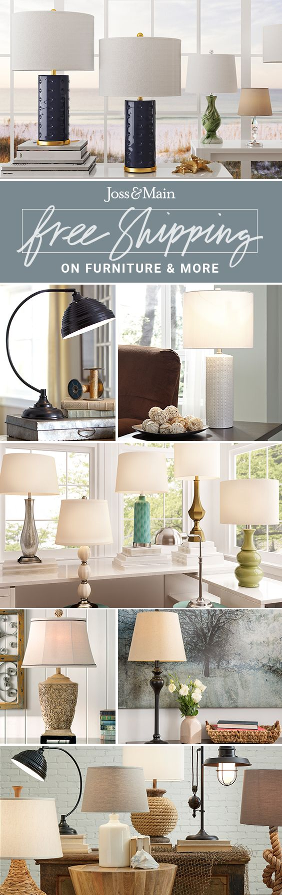 Table lamps at jossandmain.com! Sign up to find out more about FREE SHIPPING on all orders over $49!