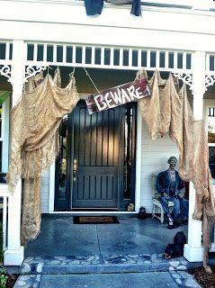 spooky halloween outdoor decor