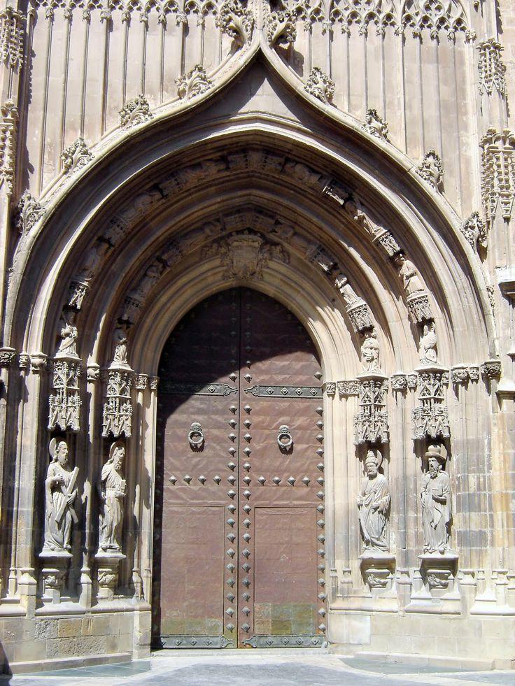 "Murcia Cathedral - La Puerta de los Apósteles © Robert Bovington  from the blog post: ""Murcia Cathedral"" - http://bobbovington.blogspot.com.es/2013/12/if-there-were-but-one-reason-to-visit.html #Murcia #Cathedral #Robert_Bovington @Bradi Spain"