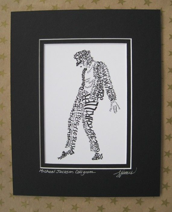 Michael Jackson Word Art Calligraphy