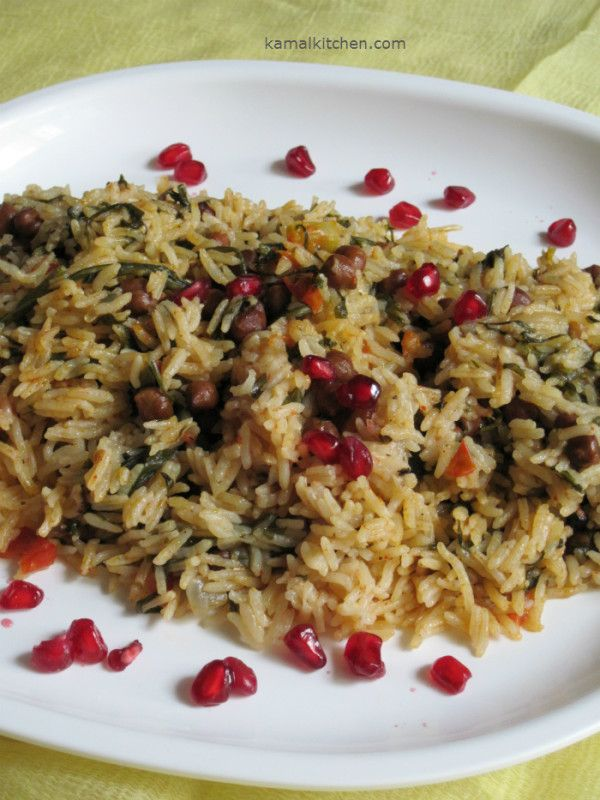 67 best indian vegetarian recipes images on pinterest indian veg black chana rice flavored with parsley continental flavor in healthy one pot meal rice forumfinder Images