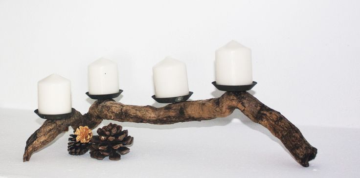 From drift wood to advent wreath