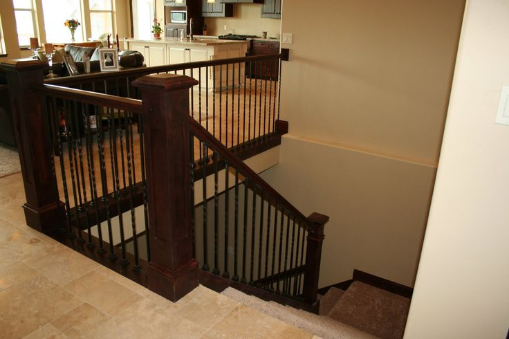Lighting Basement Washroom Stairs: Open Stairway Down To Basement In Ranch Home