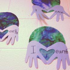 preschool earth craft   Earth Day Love craft. @Jen Inumerable Sullivan