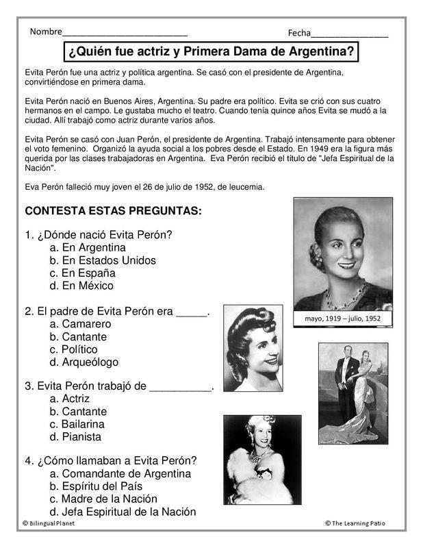 C.E: Eva Perón