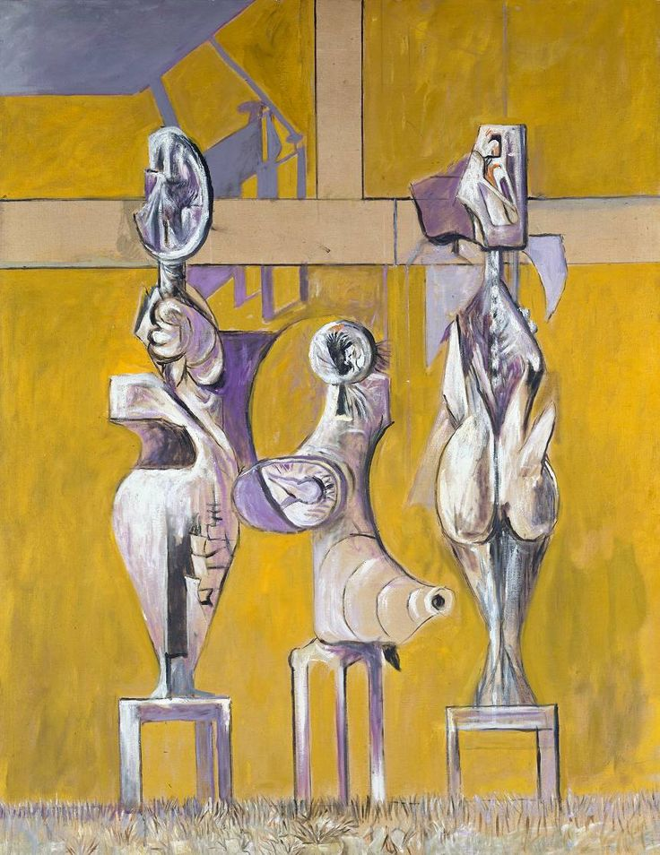 graham sutherland / standing forms / 1952 / oil on canvas
