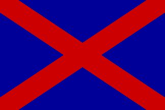 [Voortrekker vlag (South Africa) This is the Afrikaans name (literally Pioneers) for the group of Afrikaners who left the Cape Colony to make the Great Trek into the interior between 1835 and 1854. The Voortrekker vlag (also known as the Kruisvlag or the 'Potgieter Vlag' after Voortrekker General AH Potgieter) was used between 1836 and 1840 and was a red saltire on a blue background.