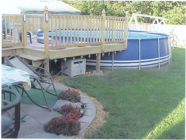 31 best how to build a pool deck images on pinterest for Above ground pool decks orlando