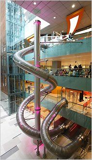 Super Slide at a Singapore Airport.  The nicest airport in the world.