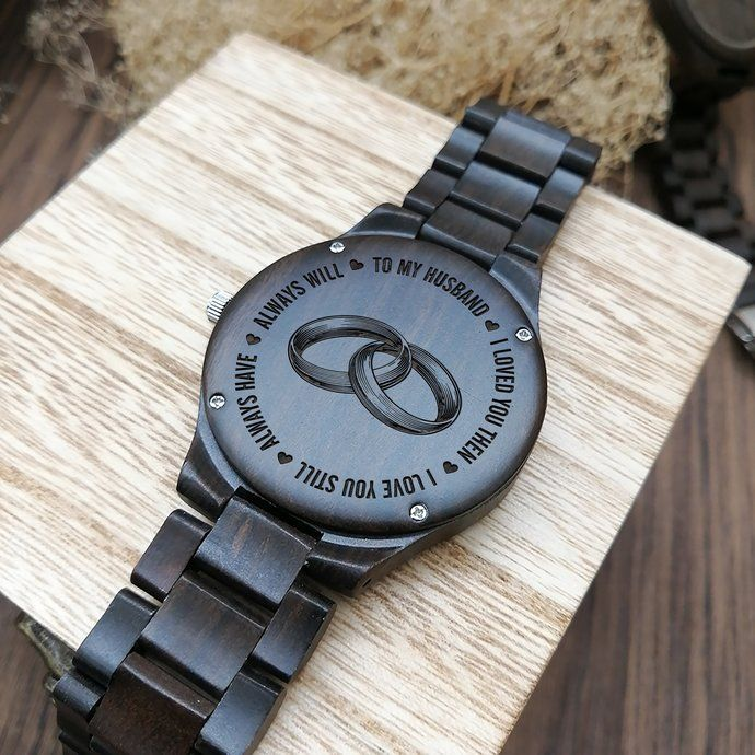 Husband Watch Perfect Gifts For Husband Engraved Wooden Watch Men S Watch Bday Gifts For Him Gifts For Husband Boyfriend Gifts