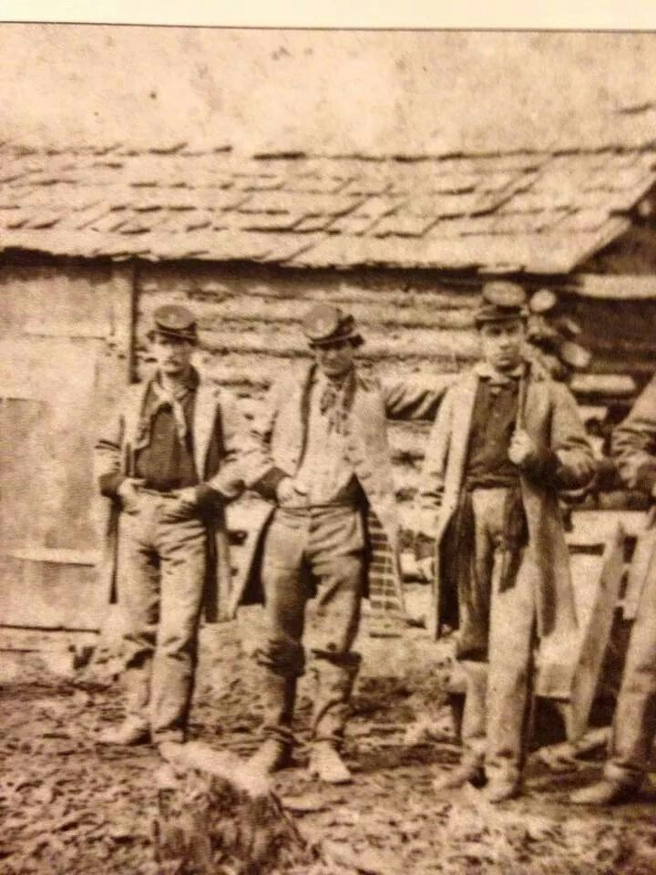 1st Texas Infantry in camp at Quantico, VA