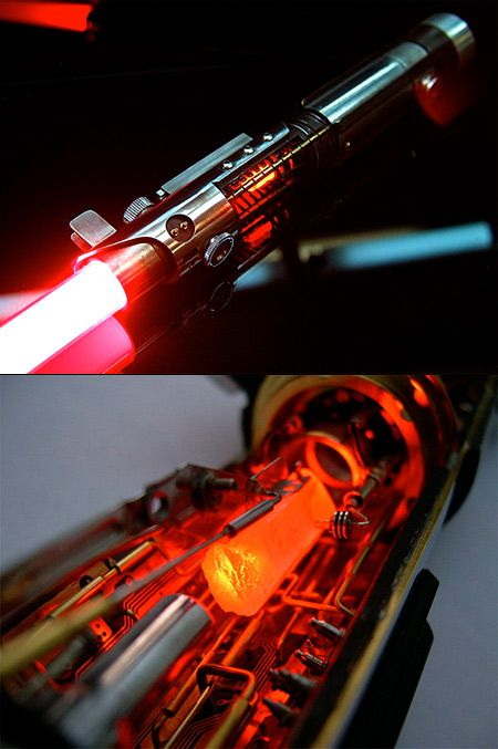 A custom Red Lightsaber w' Crystal.