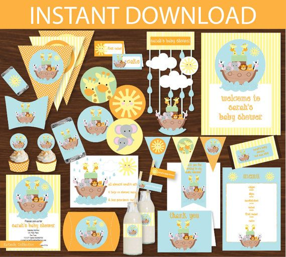 Noah's Ark Party DIY Printable Kit  INSTANT by CreativeLittleStars