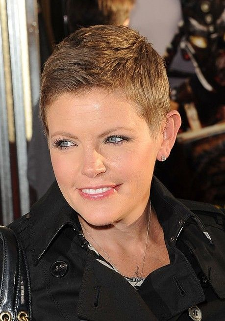 Pixie Haircuts for Round Faces | ... Straight, Boyish Pixie Haircut for Women - Natalie Maines Hairstyles