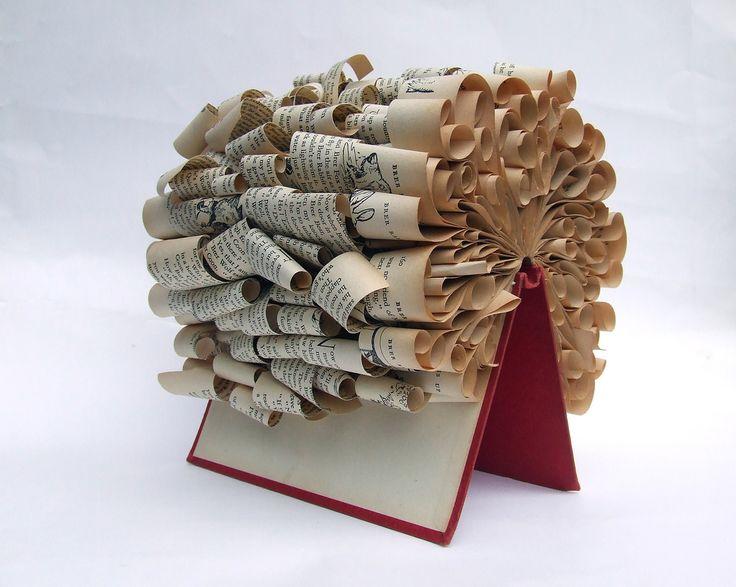 Book Art center piece