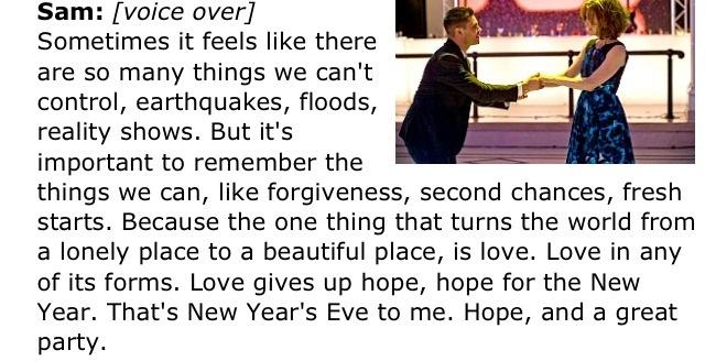 New Year\'s Eve movie quote. (Sam Ricker)   Bucket list   Pinterest ...
