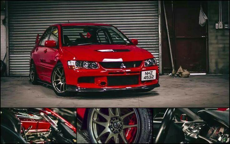 Red Mitsubishi Lancer Evolution