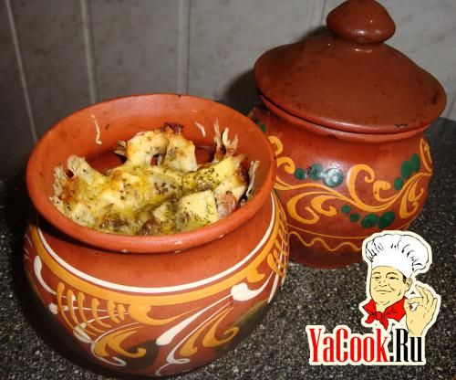 Рецепт обед «радость мужа» - свинина с овощами в горшочках
