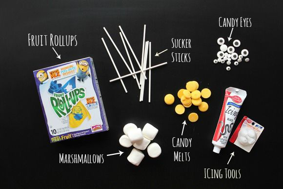 Supplies for making Despicable Me Marshmallow Minions