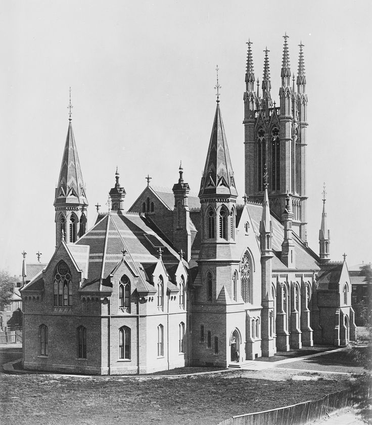 Metropolitan Methodist (United) Church, Queen St. E., n. side, between Bond & Church St. Toronto Photo 1873