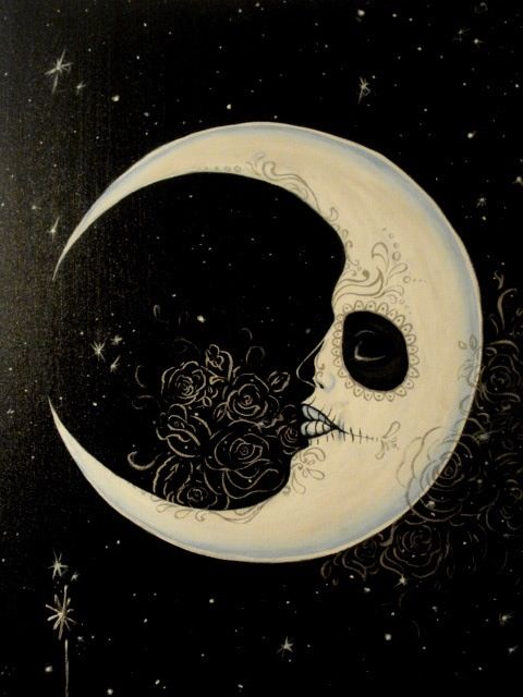 Day of the dead moon love