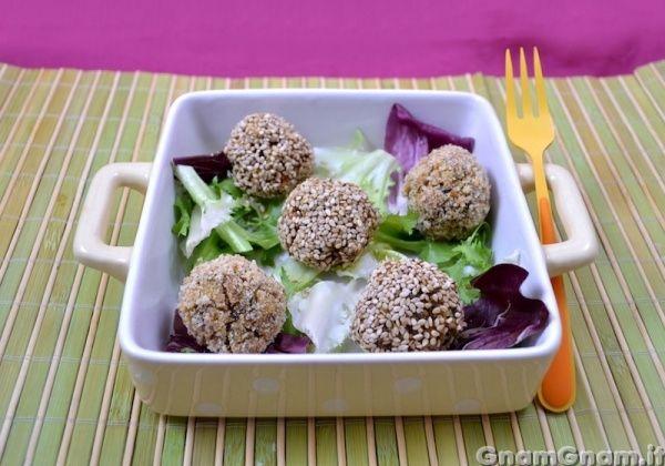 Polpette di tofu e funghi - Gnam Gnam