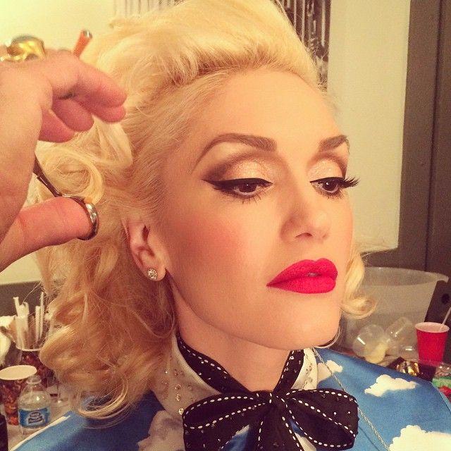 Gwen Stefani's makeup for the Grammys