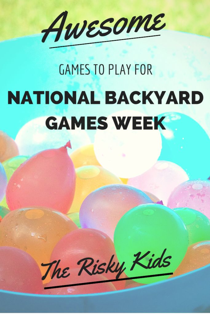 National Backyard Game Week: a roundup of over 60 awesome backyard games for kids to play.