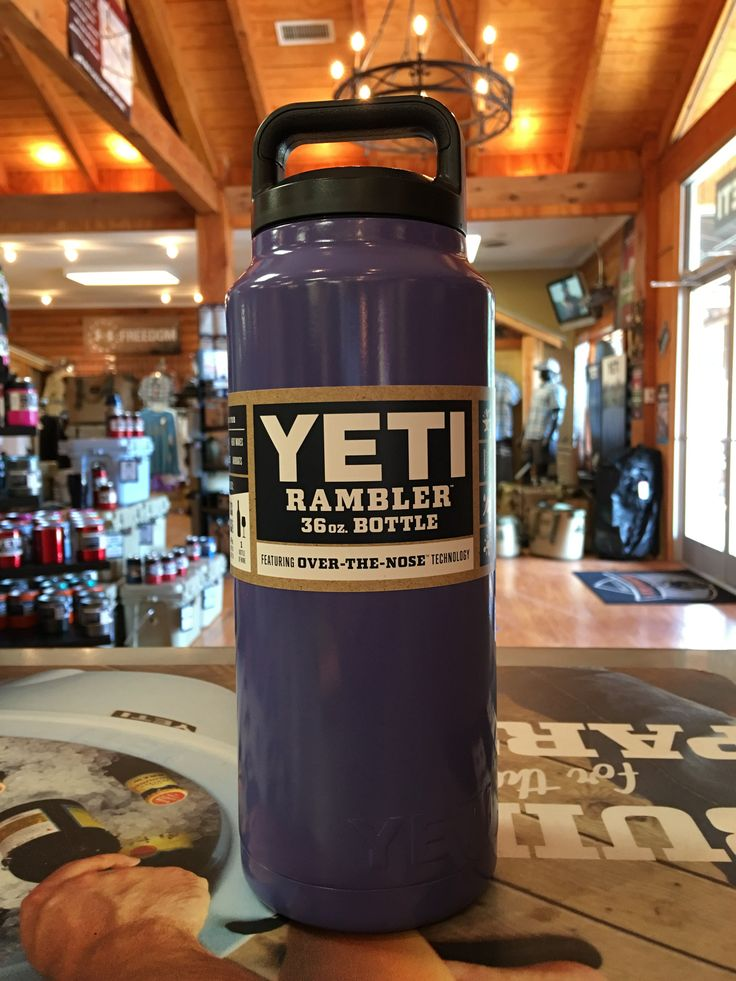 Yeti Colored Rambler Bottle 36oz - Vintage Purple *Powder Coating Process is applied by Patriot Jacks Outfitters / not Yeti Coolers. *Any warranty issues will be warrantied by Patriot Jacks Outfitters