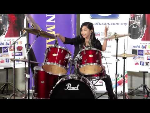 Demi Lovato - Really Don't Care ft  Cher Lloyd - Drum Cover by Nur Amira...