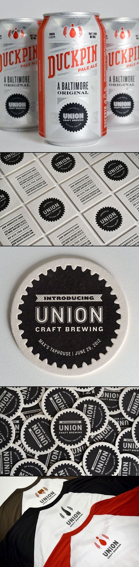 Union Craft Brewing | Gilah Press + Design #typography #branding . Another brewhouse identity. I'm kind of a sucker for it. Maybe it's just because it has to do with beer. :) Strong typefaces give it a classic feel.