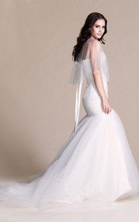 Sweetheart Mermaid Chiffon Dress With Illusion Style Free
