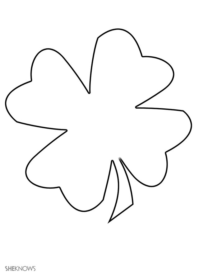 Four leaf clover - Free Printable Coloring Pages