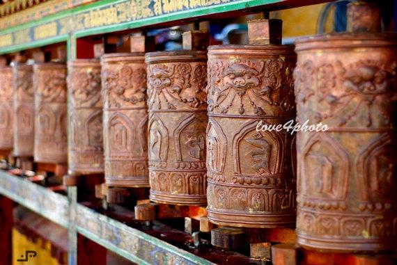 FREE SHIPPINGPrayer Wheels Tibetan Buddhism at by love4photo, $18.00