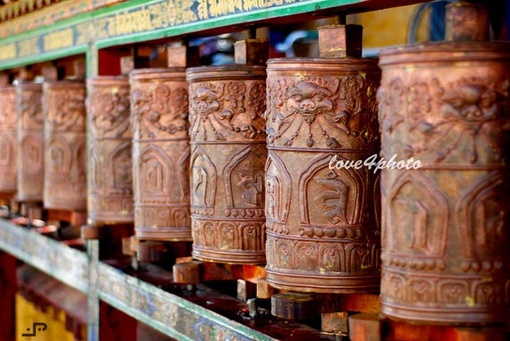 FREE SHIPPINGPrayer Wheels Tibetan Buddhism at by love4photo, $18.00