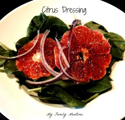 Clementine Citrus Dressing for Spinach Salad - My Family Mealtime