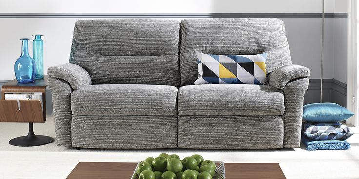 Washington 3 seater Victoria Grey by G Plan. Available from Rodgers of York #Sofa #Home