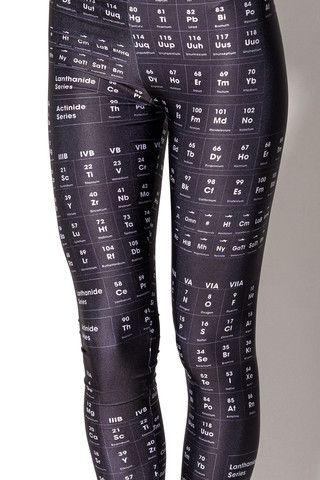 Periodic Table Black Leggings  Science geeks for the win! Slimming #blackmilk #blackmilkclothing #leggings
