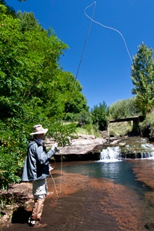 Fishing in the unpredictable rivers of the Eastern Cape Highlands