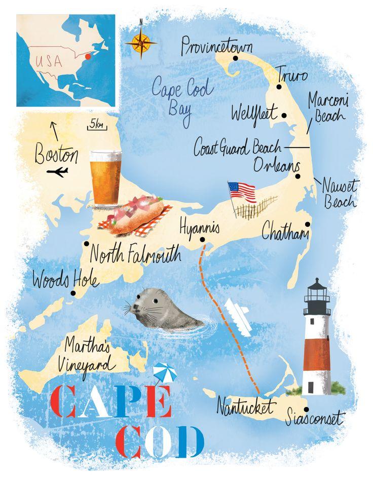 Cape Cod map by Scott Jessop