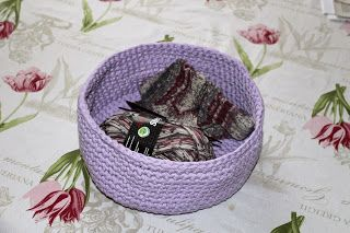 A little crocheted basket