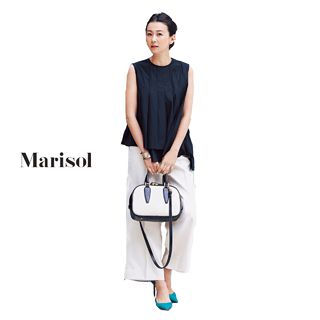 ベーシック育ちの40代ファッションにアンサンブルは欠かせない!Marisol ONLINE|女っぷり上々!40代をもっとキレイに。