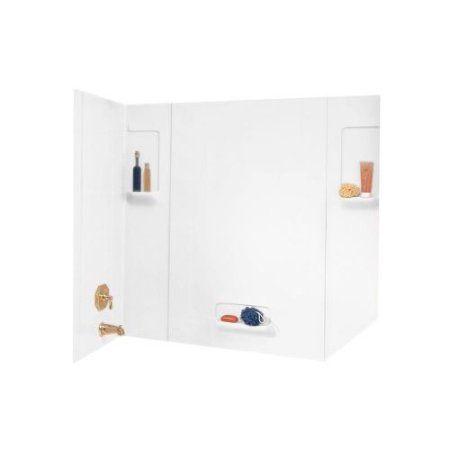 Swanstone TW-32 58 inch Five Piece Shower Wall Kit, White