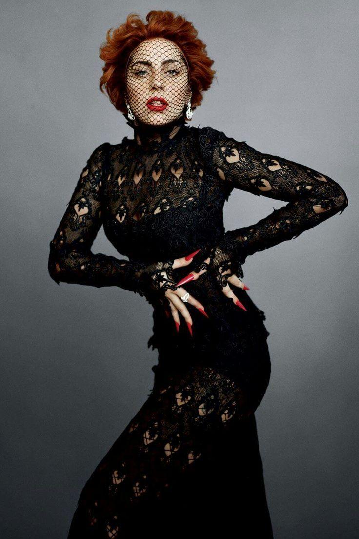 Lady Gaga for Harper's Bazaar, styled by Carine Roitfeld and shot by Sebastian Faena